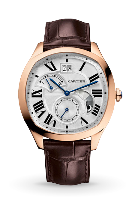 DRIVE DE CARTIER, LARGE DATE, RETROGRADE SECOND TIME ZONE PINK GOLD