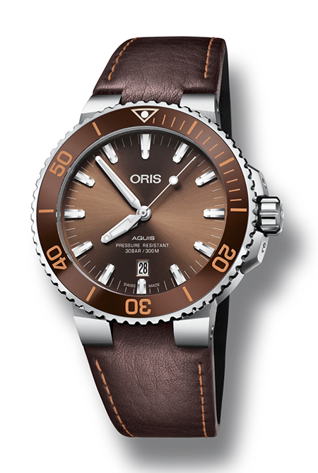 The Oris Aquis Date Brown Dial