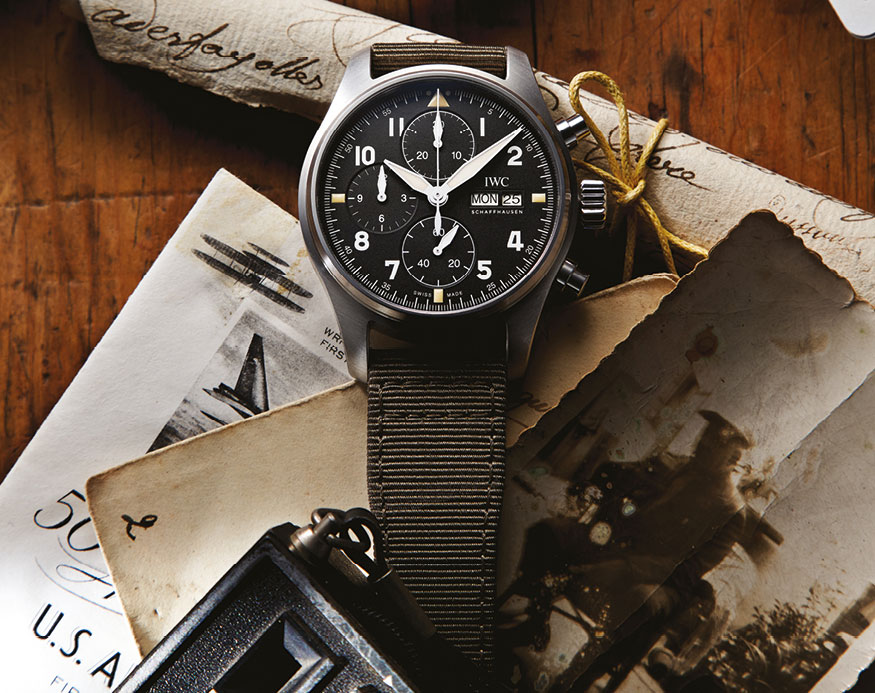 Feature - 0 Pilot's Watch Chronograph Spitfire (Textile Strap)