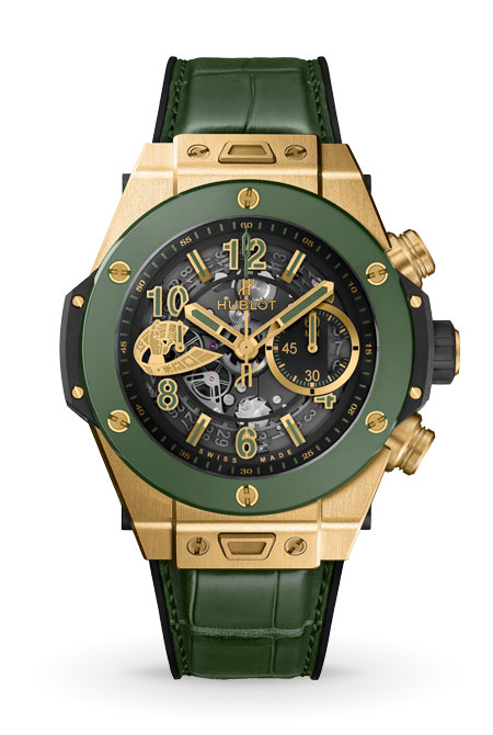 Big Bang Unico WBC Yellow Gold Green Ceramic- image
