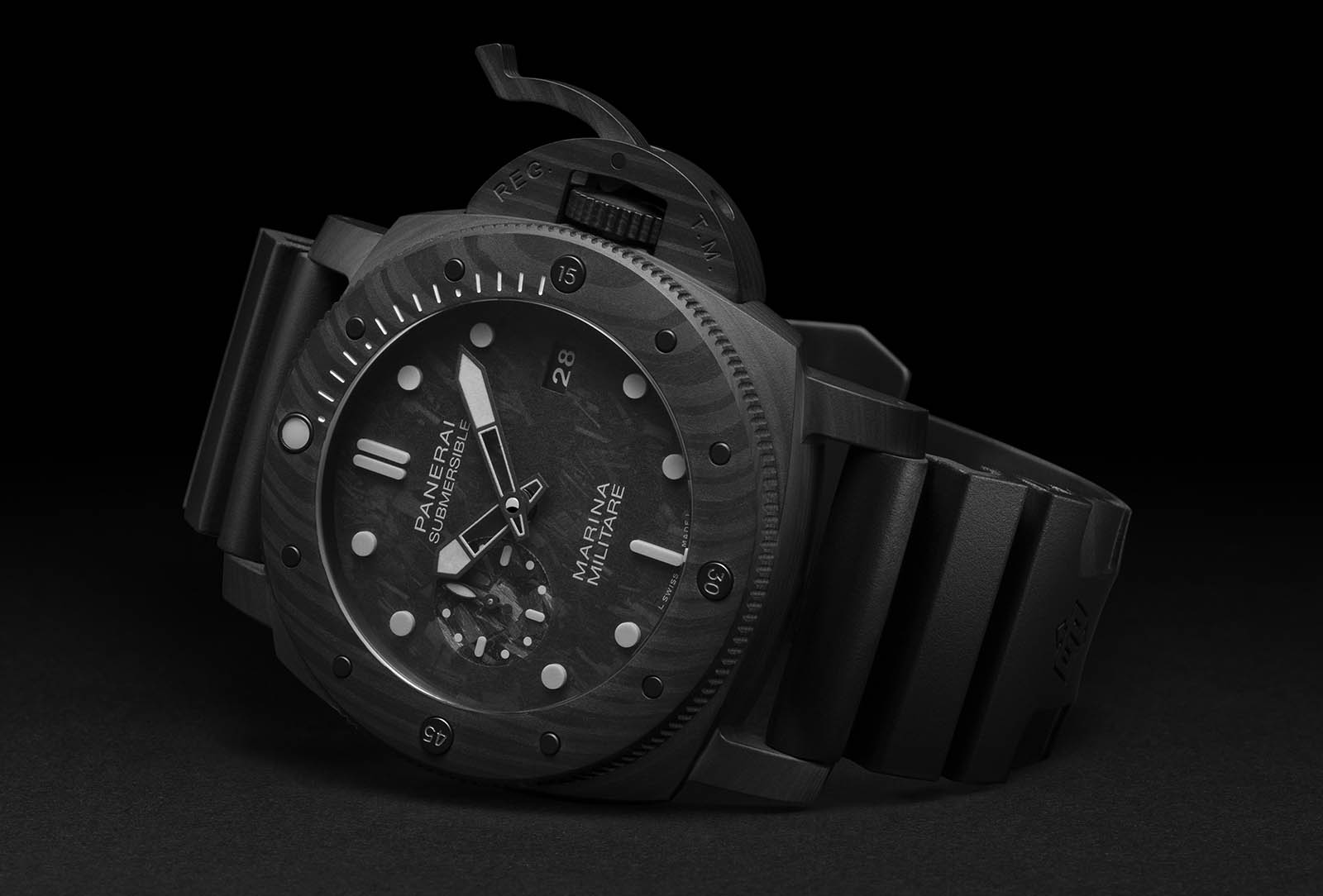 SUBMERSIBLE MARINA MILITARE CARBOTECH PAM00979 - feature