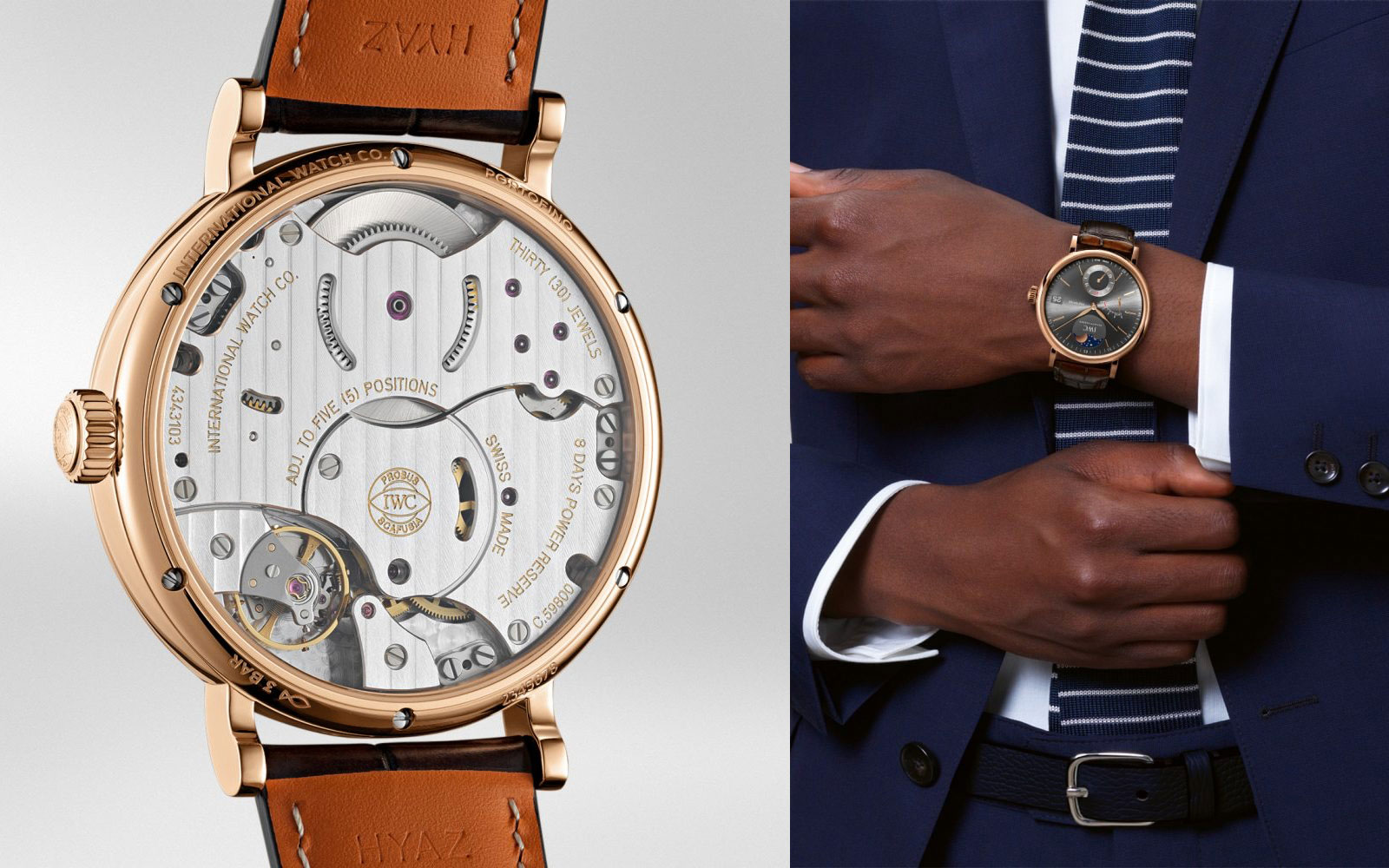 PORTOFINO HAND-WOUND MOON PHASE IW516403 - feature